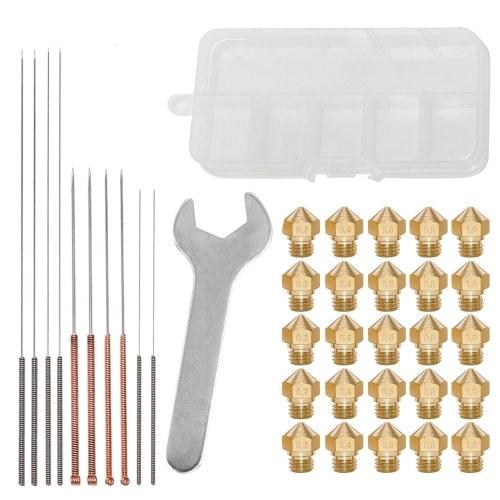Набор инструментов для обслуживания сопел 3D-принтеров Aibecy