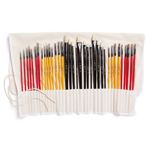 Colore 36Pz Set di pennelli Pennelli per pittura Disegni per pittura per pittura ad olio acrilica ad olio Artigianato d'arte fai-da-te