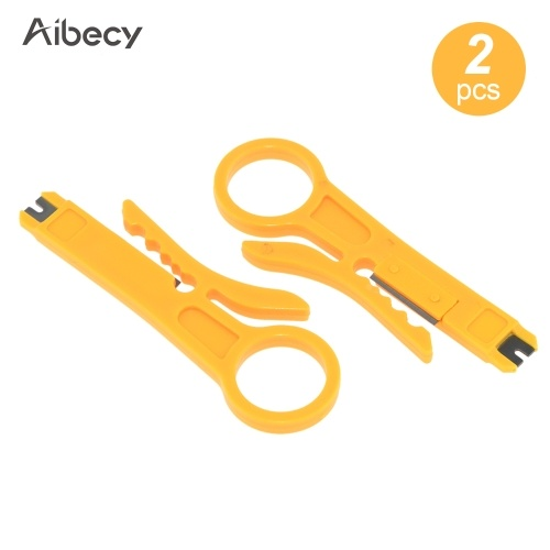 Aibecy 2pcs Mini Portable Wire Stripper Plier Muti-Functional Crimper Cutter for 3D Printer Cable PTFE Cable