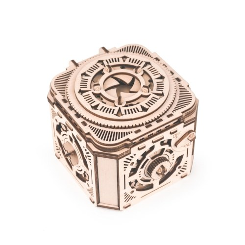 Самостоятельная сборка Wooden Puzzle Password Treasure Box