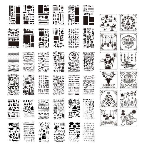 Kit di stencil da disegno per bambini da 48 pezzi