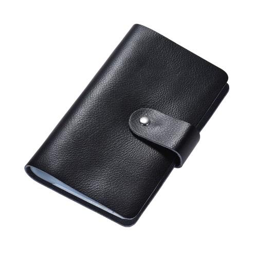 Alta qualidade do couro do negócio de Crédito Bank ID Nome Card Case estilo carteira Livro Bag Holder com 96 bolsos de cartão para mulheres dos homens