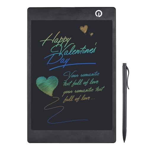 Prateleira de tinta LCD colorida de 9,7 polegadas Tabuleta de desenho digital Placa gráfica eletrônica com caneta para crianças Homens de negócios Pessoas surdas