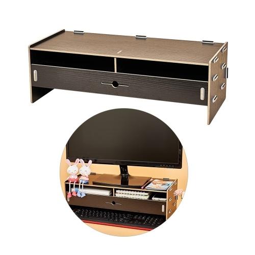 Подставка для монитора компьютера Riser Wood Desktop Organizer с канцелярскими принадлежностями Клавиатура Слоты для хранения ящиков Офисные школьные принадлежности