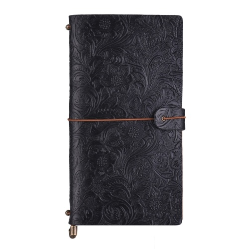 Diario di viaggio antico in rilievo Notebook Diario in pelle rilegato Blocco note giornaliero ricaricabile foderato carta a griglia vuota