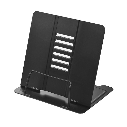 Metal Book Holder Adjustable Six Angles Bookstand Purple