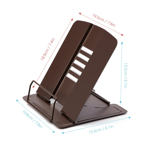 Portable Metal Book Stand Book Holder