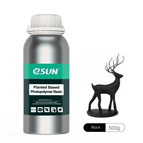 eSUN Résine rapide à base de plantes 405 nm LCD à polymérisation UV, 500 g noir