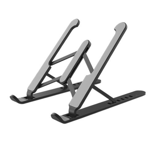 Foldable Laptop Stand Non-Slip Computer Holder Riser 6 Levels Adjustable Aluminum Alloy Desktop Mount Compatible with 10-15.6'' Laptops
