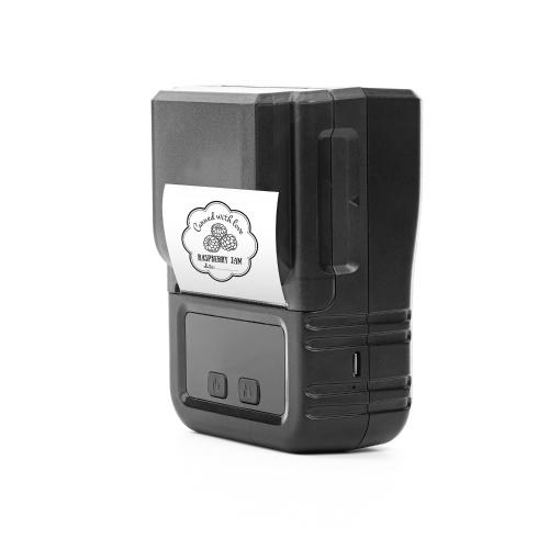 Aibecy Stampante termica portatile Stampante per etichette portatile Supporto 203 dpi Larghezza carta 20-50 mm Stampa in più lingue Uso con APP per gioielli Etichetta per vestiti Compatibile con smartphone Android iOS