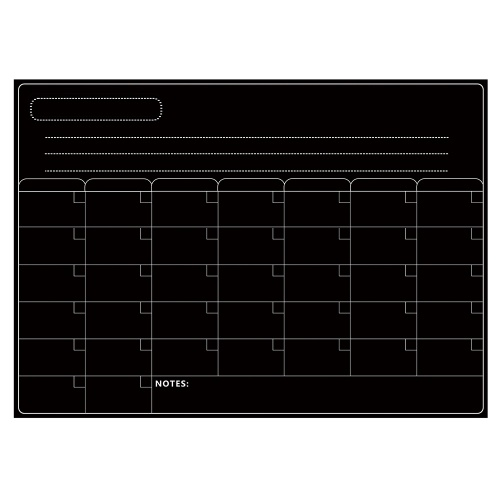 Магнитная доска с календарем для сухого стирания