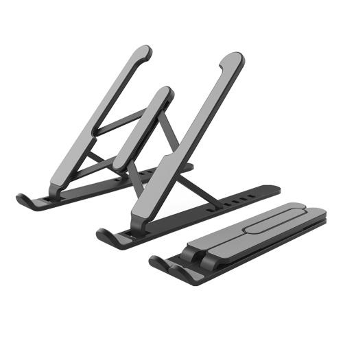 Tragbarer faltbarer Laptopständer 6 Winkel Verstellbarer ergonomischer Desktop-Laptop Riser Aluminiumlegierung Rutschfeste Halterung für Computerständer für Laptop-Tablet 11-15,6 Zoll