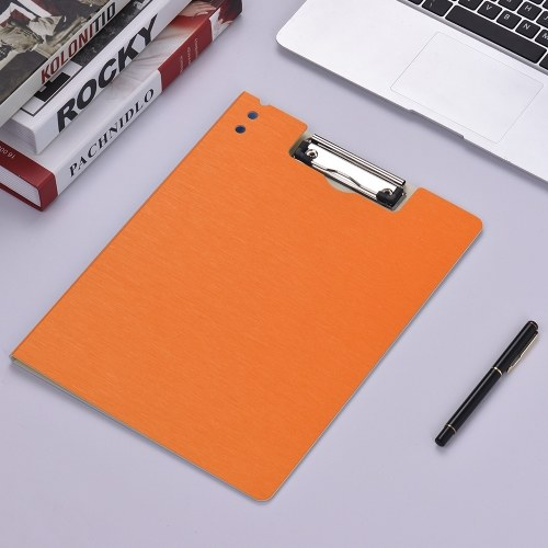 A4 Covered Clipboard File Folder Organizer Documents Holder Writing Pad