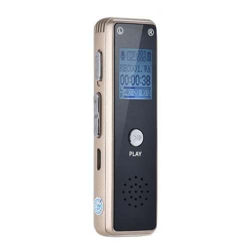 Przenośny wielofunkcyjny cyfrowy rejestrator dźwięku Dyktafon Dyktafon 8GB Pamięć Odtwarzacz MP3 Odtwarzacz głosowy Powtarzany AB