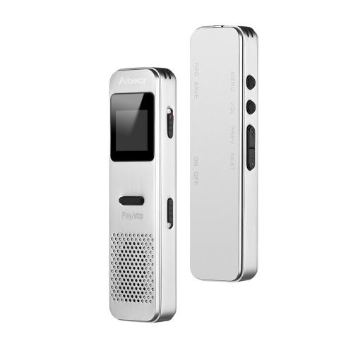Aibecy Voice Activated Recorder Цифровой диктофон MP3-плеер с громкоговорителем для совещаний Лекции