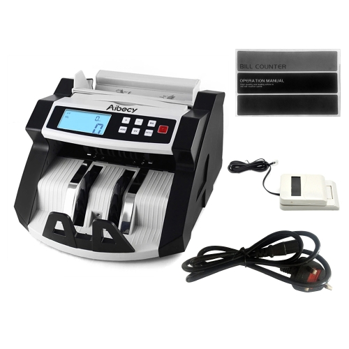 Automatic Multi-Currency Cash Banknote Money Bill Counter Counting Machine LCD Display with UV MG Counterfeit Detector for EURO US Dollar AUD Pound, TOMTOP  - buy with discount