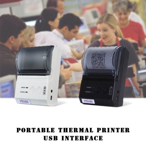 HOP-E200 Portable Thermal Receipt Printer USB Connection