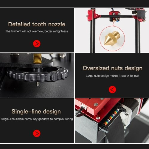 CREALITY CR-10S Pro Upgraded Auto Leveling 3D Printer DIY Self-assembly Kit  - tomtop com