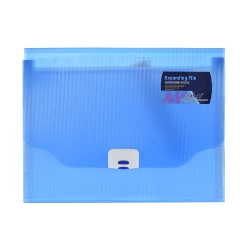 A4 / Ofício / Carta Tamanho de 13 Polly Pocket Expansão de pasta de arquivos Organizador Jacket com Buckle Encerramento de Contrato Demonstrações Documentos Fiscais Bill Relatório Teste Livro Azul