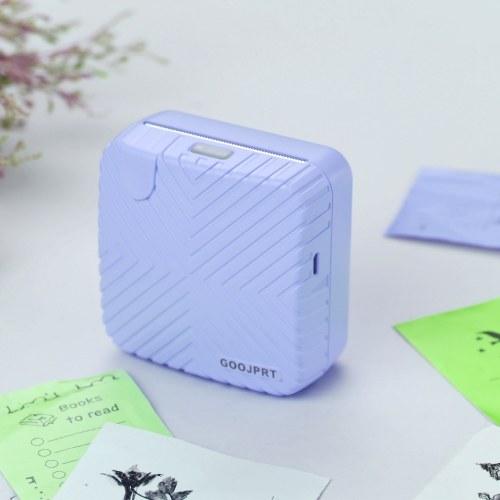 GOOJPRT P6 Mini stampante tascabile portatile BT Wireless Etichetta termica adesiva Carta per appunti Immagine fotografica AR Stampante mobile istantanea