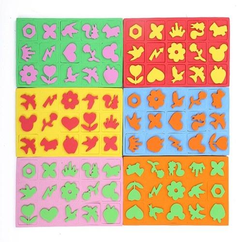 15 шт. Художественная роспись штампы губка штамповка с милыми узорами инструменты для рисования для раннего обучения для детей поделки для малышей DIY