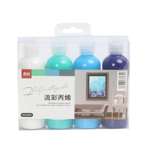 4 Colors Fabric Paint Set Kit 100g Each Bottle Textile Paint