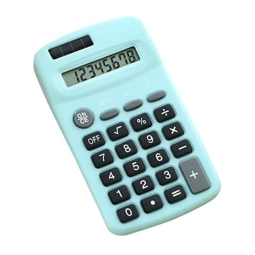 Mini Cute Calculator 8-stelliges Display Solar & Batterie Dual Power Portable Electronics Calculator Buchhaltungstool für Schüler Kinder Büro zu Hause
