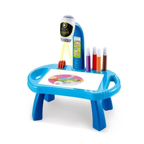 Детский учебный стол, проектор для рисования и рисования, художественная доска для рисования, проекция, рисование, настольная игрушка, подарок для раннего обучения для мальчиков и девочек старше 3 лет
