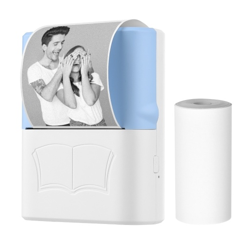 X3 Портативный мини-карманный принтер Беспроводной термопринтер BT Фотопринтер Списки заметок Журнал квитанция Бумага для принтера Наклейка Бесконечная печать Совместимость с Android и iOS для домашнего офиса