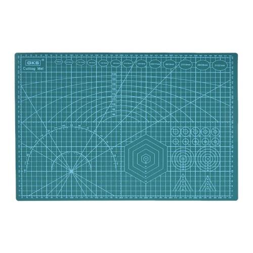 GKS PVC retalhos Ferramentas A3 Tapete de Corte Manual de ferramenta DIY Tábua de frente e verso disponíveis Self-healing corte Pad 30 centímetros * 45 centímetros * 3 milímetros Verde