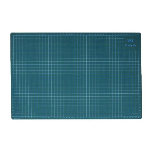 GKS PVC A3 Tapete de Corte Manual de ferramenta DIY Tábua de dupla face auto-cura de corte de 5cm Pad e 1cm Grids, patchwork Ferramentas 30 centímetros * 45 centímetros * 3 milímetros Verde