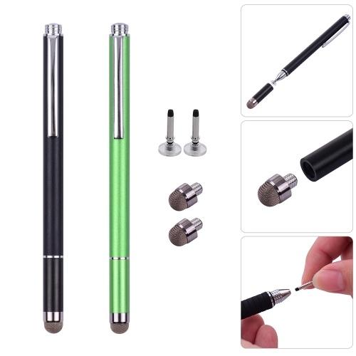 Универсальные 2 в 1 ручках для стилусов с наконечником для волокон и наконечником для дисков фото