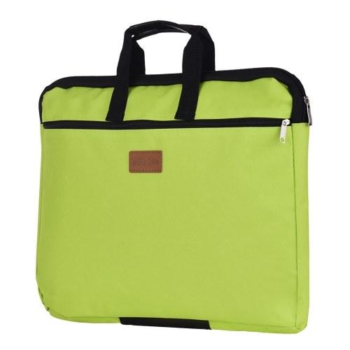 Big Capacity Double Layers Document Holder Zipper File Bag with Handle Waterproof Canvas Handbag