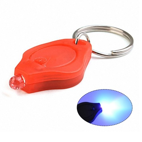 Мини светодиодный брелок фонарик ультра яркий светодиодный брелок крошечный портативный ключ R-ing УФ свет факела
