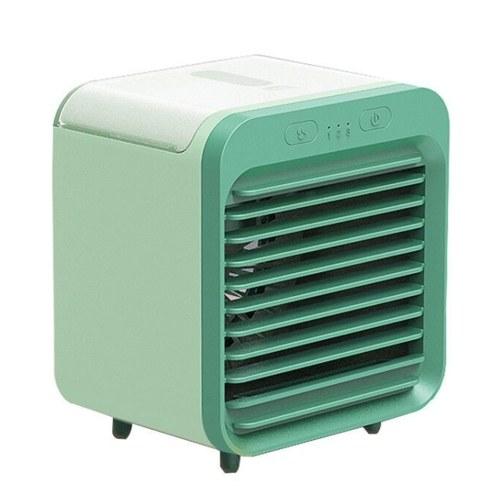 Tragbarer Luftkühler Wassergekühlte Klimaanlage Desktop-Lüfter 3 Gänge USB Wiederaufladbar für Reisen im Freien zu Hause (weiß)