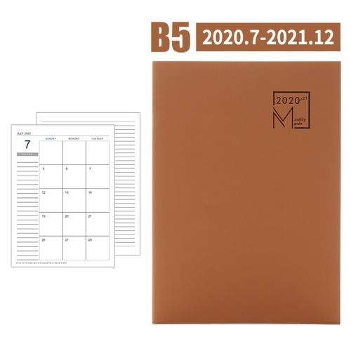B5 Blocco note per pianificatore mensile a riempimento automatico