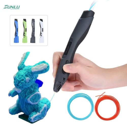 SUNLU SL-300 Inteligente Placa de impressão 3D Bico de cerâmica de baixa temperatura com suporte de caneta para DIY Modelo Doodle Children Kid Christmas Gift
