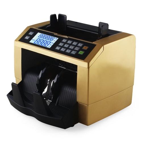 Wyświetlacz LCD Automatyczne Multi-waluty pieniężnych banknotów Pieniądze Bill Counter Liczarka z UV MG Fałszywe Detektor zdalnego wyświetlacza panelu na Euro US Dollar Pound AUD
