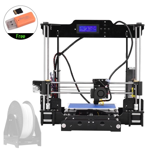 High Precision Desktop 3D Printer Kits DIY Self Assembly Acrylic Frame Reprap Prusa i3 with TF Card