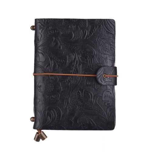 Vintage Full Grain Leather Refillable Travel Journal Notebook