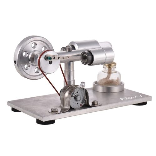 Aibecy Hot Air Stirling Engine Motor Model Electricity Power Generator with LED Physics Educational Toy Birthday Gift OS1378S