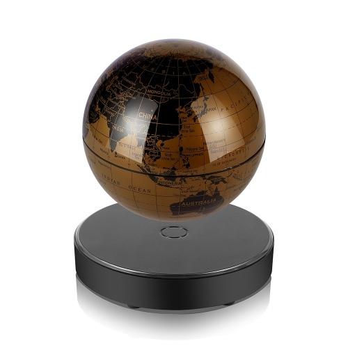 Mappamondo con mappa del mondo a levitazione magnetica