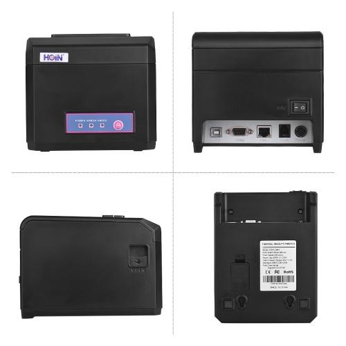 Поддержка HOIN 80-миллиметрового чекового принтера Ширина бумаги 58 мм / 80 мм с автоматическим резаком Последовательный интерфейс USB USB Совместим с командами печати ESC / POS