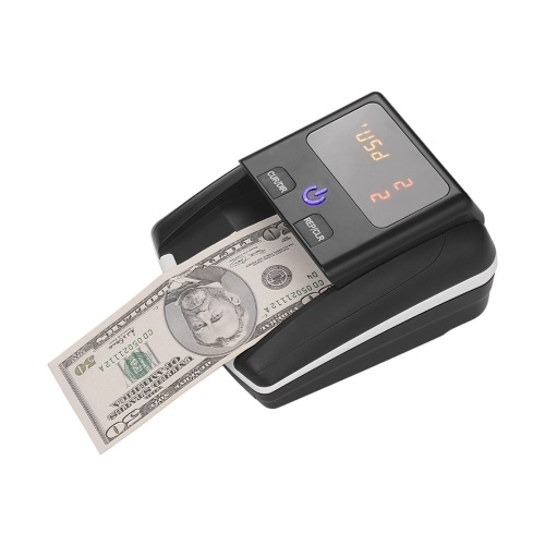 Portable Small Banknote Bill Detector Denomination Value Counter