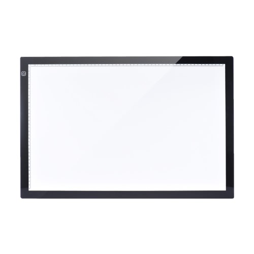 A2 60 * 40cm 26 polegadas LED artista estêncil Board Tattoo Desenho Tracing tabela da exposição Light Box Pad LED Copiar Conselho de Controle Inteligente Toque 3 níveis de brilho ajustáveis