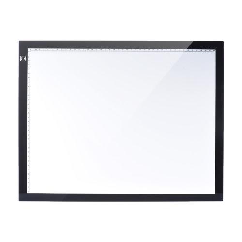 A3 47 * 37 centímetros 21,4 polegadas LED artista estêncil Board Tattoo Desenho Tracing tabela da exposição Light Box Pad LED Copiar placa de controle Intelligent Touch 3 níveis de brilho ajustáveis com multifunções Titular