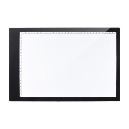 A4 35,2 * 24 centímetros de 15 polegadas LED artista estêncil Board Tattoo Desenho Tracing tabela da exposição Light Box Pad LED Cópia de untra-fino design A4-DW-K