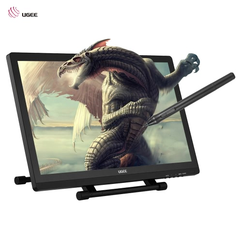 "Ugee 2150 21.5"" 5080LPI 1080P HD Graphics Drawing Tablet Screen IPS Monitor Display Stand Adjustable w/ 2 * Intelligent Pen Pressure Sensitivity 2048Level"