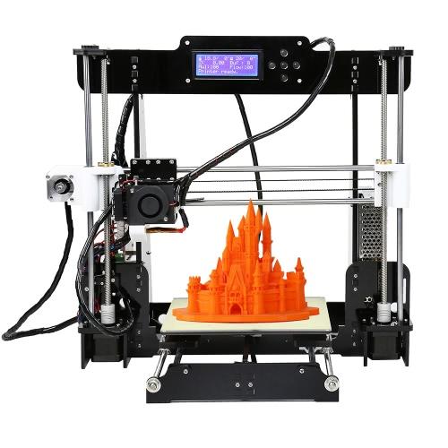 Kit di stampanti 3D ad alta precisione Anet A8 con filamento 10M