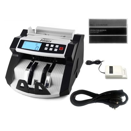 Aibecy Automatic Multi-Currency Cash Banknote Money Bill Counter Counting Machine LCD Display, TOMTOP  - buy with discount